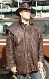 Brown Country Jacket zipped and buttoned up
