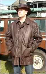 Brown Country Jacket with cape removed