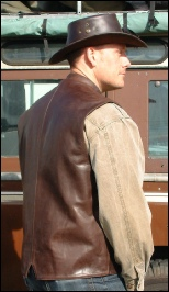 Brown Country Gilet rear view